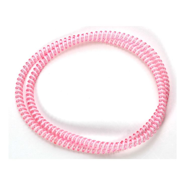 Spiral Cord Protector - 2-Tone White / Baby Pink