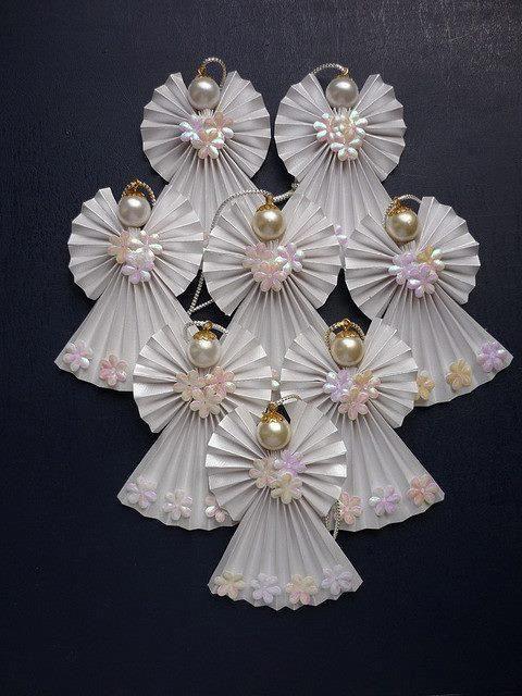 #angel, white, pretty, pearls, harmony, self-made - #Engel, weiß, hübsch, Perlen, Harmonie, selbst gemacht