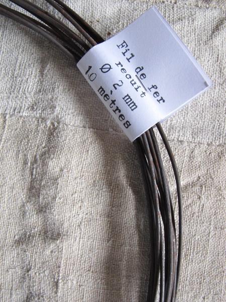 Bobine : 10 m de fil de fer recuit 2mm de diamètre