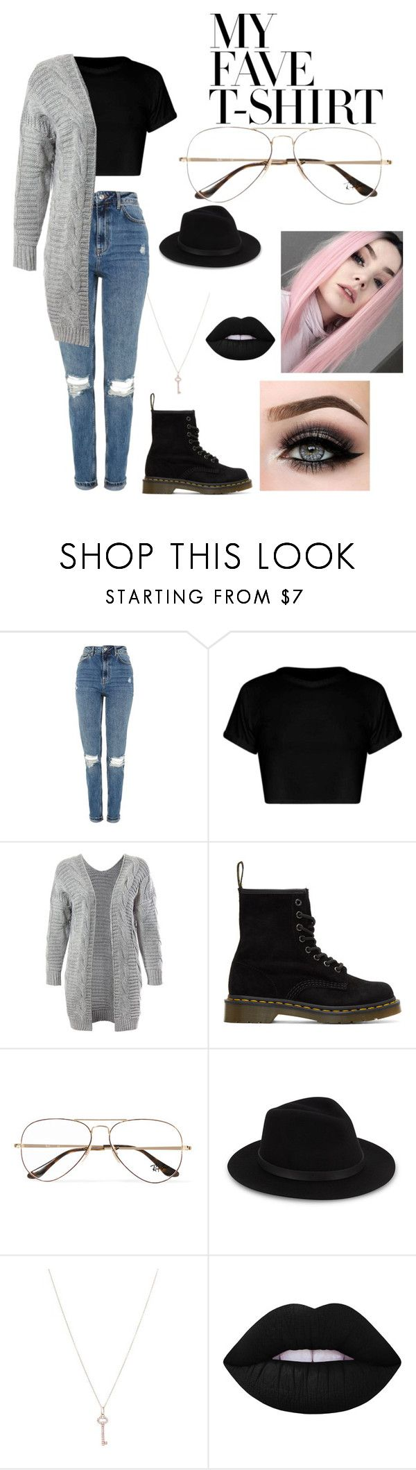 """Untitled #568"" by taco-bell-love ❤ liked on Polyvore featuring Topshop, Sans Souci, Dr. Martens, Ray-Ban, Saks Fifth Avenue, Tiffany & Co., Lime Crime, ASAP and MyFaveTshirt"