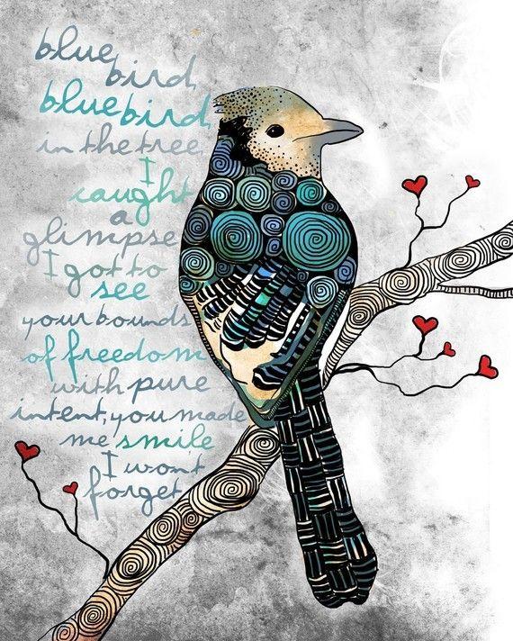I love zentangle and birds