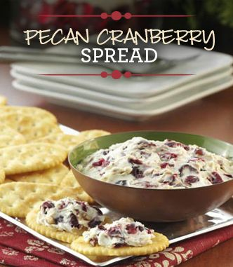 This simple Pecan Cranberry Spread will make a delicious Thanksgiving appetizer!