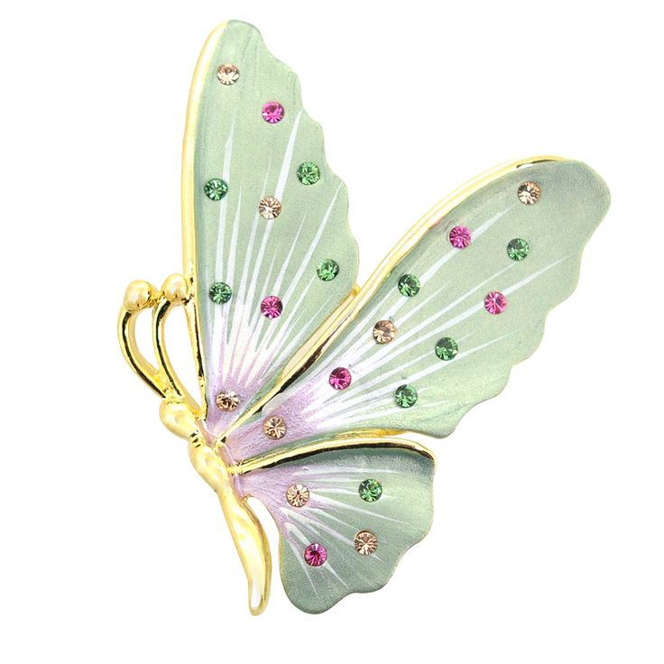 Green Butterfly Pin Brooch And Pendant