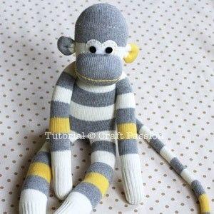 How to make a monkey plushie. Sock Monkey - Step 23
