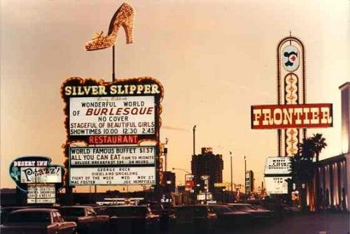 The Silver Slipper closed in 1988, but you can still see the sign on Fremont Street as part of the Neon Museum installations.