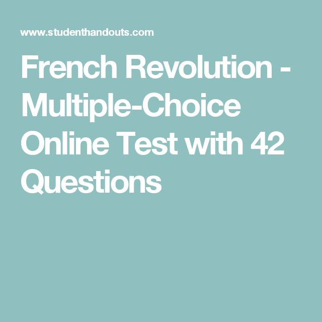 French Revolution - Multiple-Choice Online Test with 42 Questions