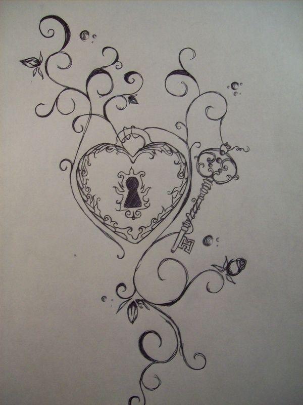 lock and key tattoos - Google Search   Cool tats   Pinterest
