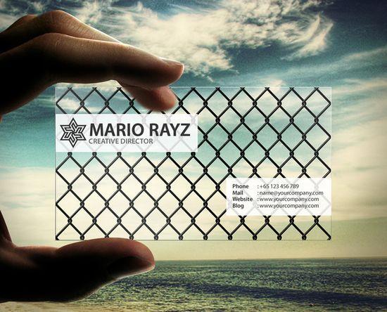Top 20 Transparent business cards