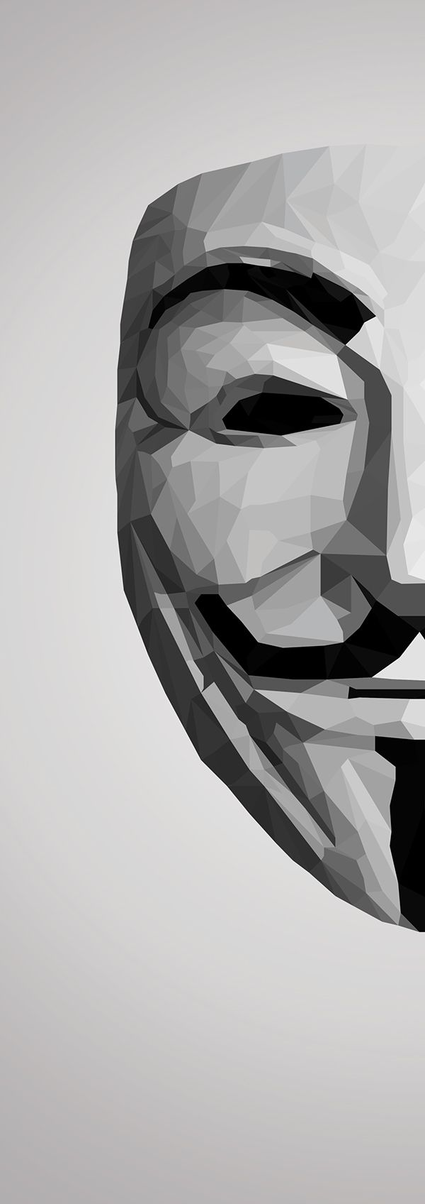 V for Vendetta Mask Low Poly on Behance