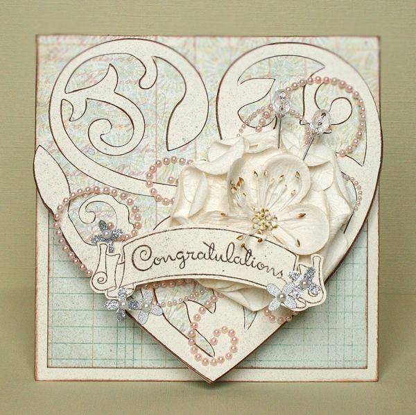 Cricut Wedding Card. Damask Decor Cartridge.