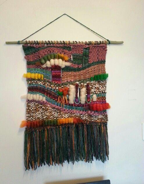 Telares decorativos 60×60 lana natural