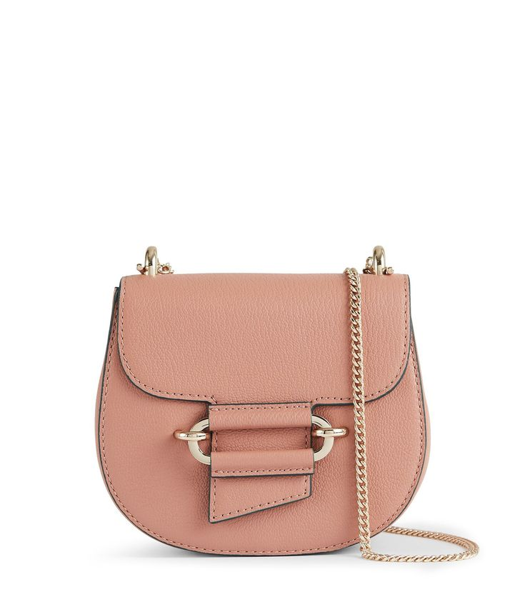 REISS MALTBY MINI MINI CROSS-BODY BAG ROSE. #reiss #bags #shoulder bags #leather #