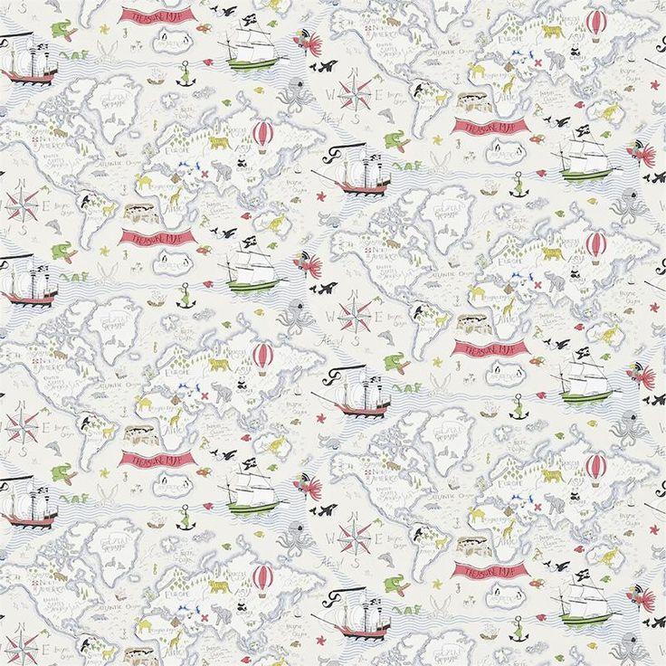 Little Sanderson Wallpaper Abracazoo Treasure Map Collection 214040 214040