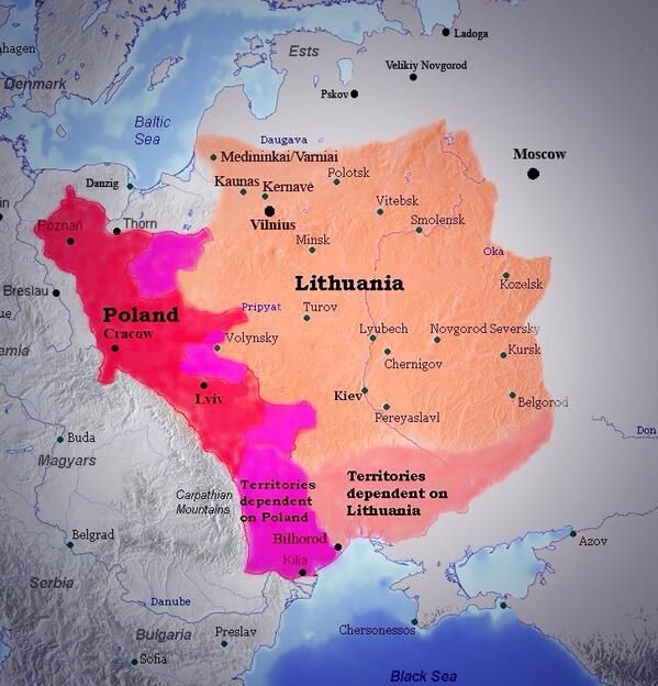 """Poland-Lithuania 1411 after Europe´s  greatest medival #Battle_of_Grunwald (Tannenberg), in which the """"imperial"""", despotic rule of the Teutonic Order over the Baltic-Slavic native population by extermination of an entire people (mainly the real Prussians) and settlement of Germans for almost 200 years was broken. Unfortunately, this ulcer continued existing in a new form as Brandenburg > Prussia > Germany with devastating consequences for Europe and the whole world => WW1> WW2 ."""