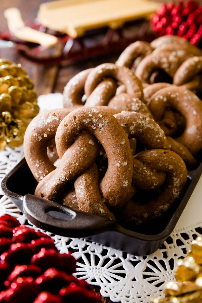 Everything is better with chocolate - including gingerbread.  These chocolate gingerbread pretzel cookies have all of gingerbread's spices with the addition...