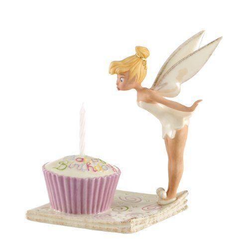 Happy Birthday Tinkerbell Cupcake Figurine