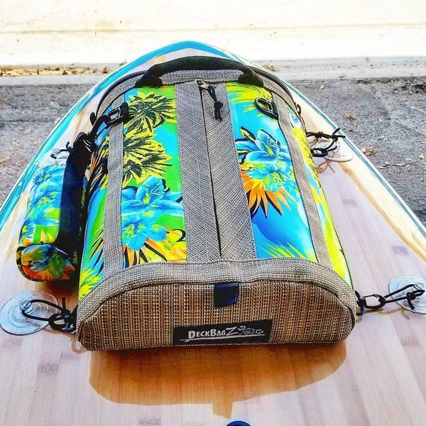 Now that you got that awesome new paddle board--now you need a cool SUP deck bag to mount onto it while you enjoy your paddleboard touring adventures! Get fun & functional SUP gear by DeckBagZ
