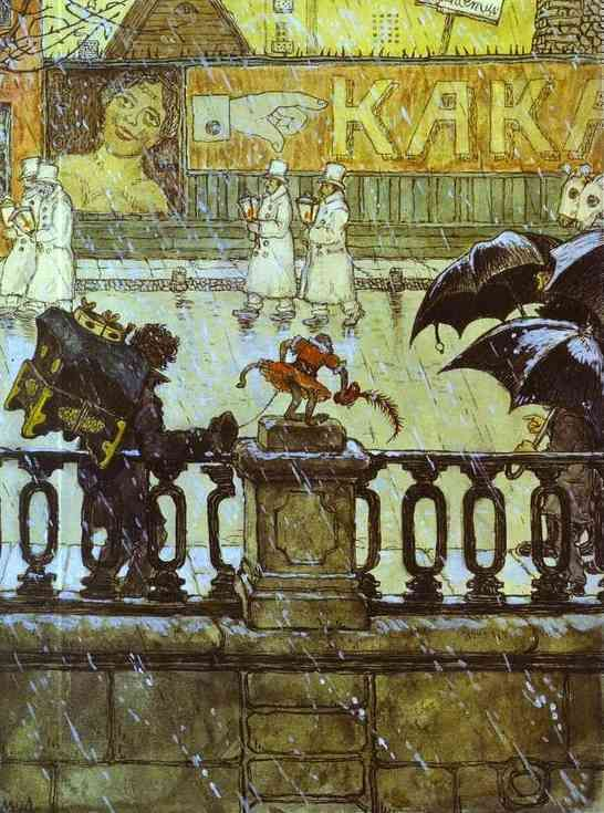 Mstislav Dobuzhinsky (Мстислав Добужинский), City Types (City Grimaces), 1908