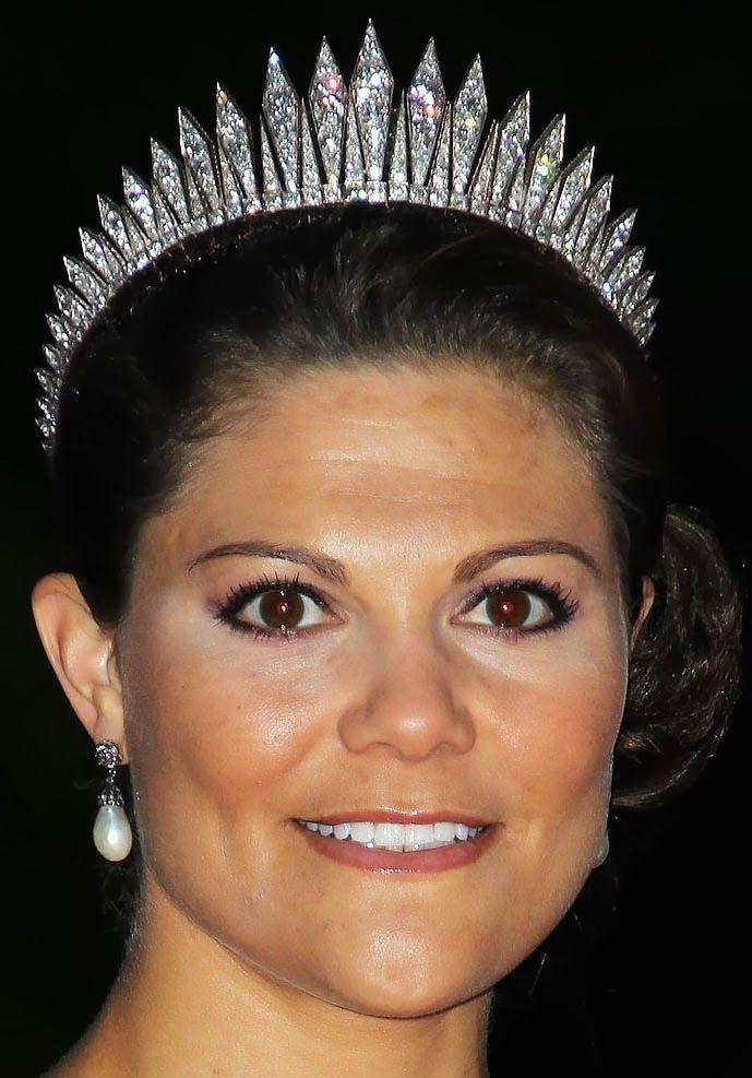 Tiara Mania: Baden Fringe Tiara worn by Crown Princess Victoria of Sweden