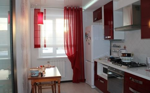 оформление окон шторами на кухне - Поиск в Google