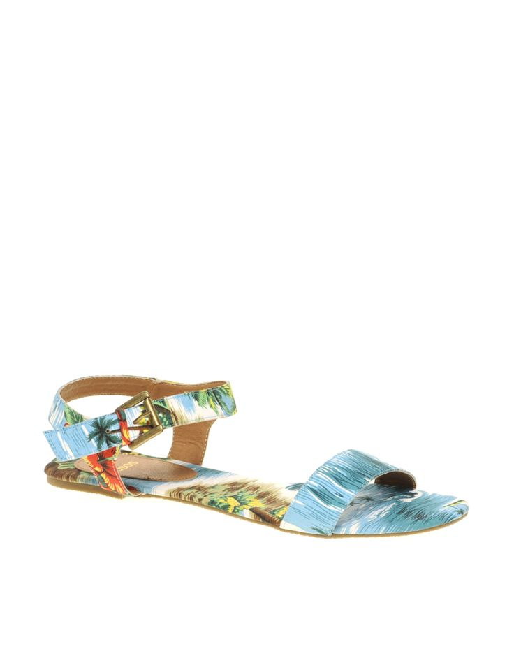 Today's So Shoe Me is the Field Trip Canvas Two Part Gladiator Sandals, $29, by and available at Asos. Put a fun floral print at the tip of your toes in these simple flat gladiators. This on trend Hawaiian print adds a subtle touch of print to any summer ready outfit.