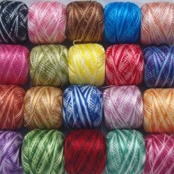 20 ANCHOR Variegated Pearl Cotton Balls. Size 8 (85 Meters each) | Ribbon | Anchor Pearl Cotton | Embroidery | Cross Stitch Kits | Threads | Beads & Charms | Needle craft | Accessories | Cotton & Polyester Threads| Crafts | Anchor Threads | Shop Online