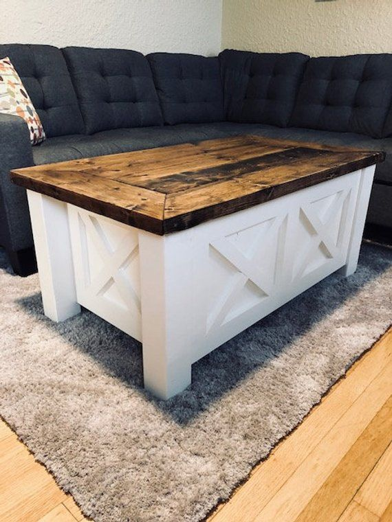 Farmhouse Double X Coffee Table Free Shipping Coffee Table