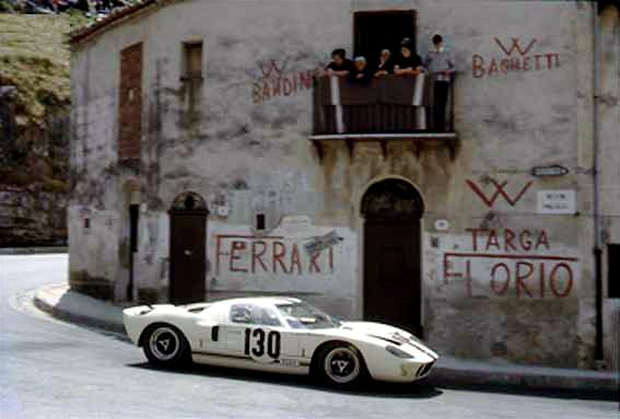 "hellformotors: ""Ford of France GT40 at Targa Florio 1967 """