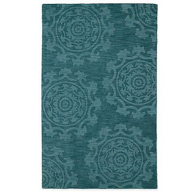 Kaleen Imprints Classic Rug In Chocolate Turquoise Light Brown