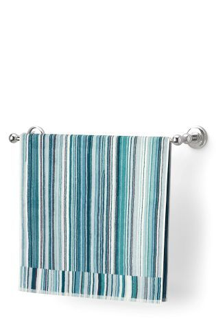 Teal Skinny Striped Towel