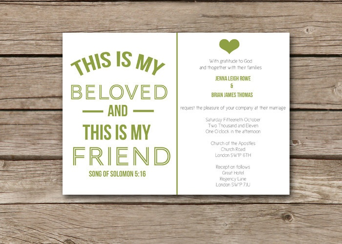 modern christian wedding invitation this is it