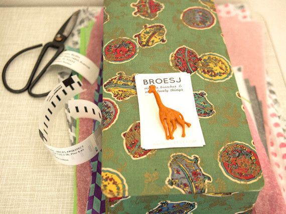 The Etsy Housetour in my House! / orange giraffe brooch