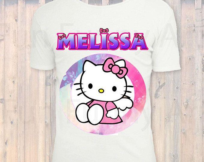 Personalized Hello Kitty Iron On Transfer,Personalized Hello Kitty Birthday Shirt, Hello Kitty Birthday Girls T Shirt, DIGITAL FILE