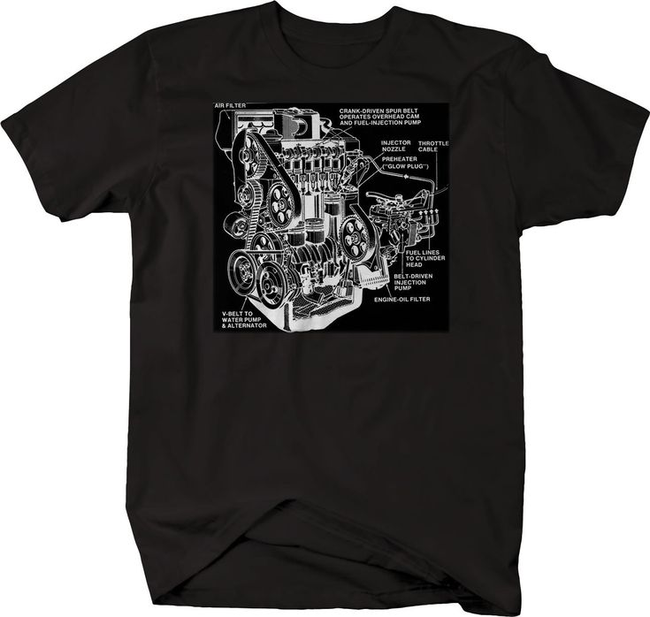 Engine Hotrod Drawing Garage Diagram Mechanic Tshirt