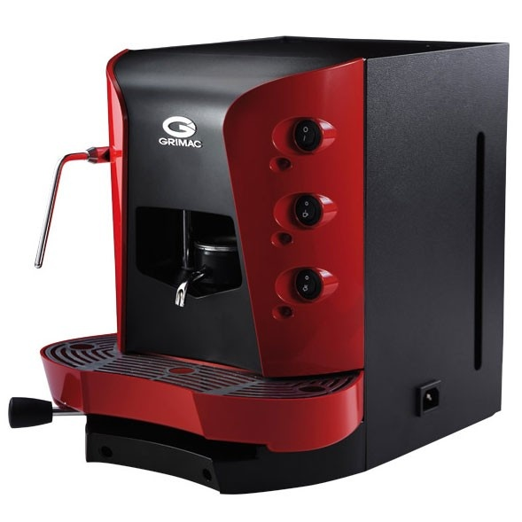 grimac terry opale espresso pod machine w steam wand cappuccinatore made in italy red. Black Bedroom Furniture Sets. Home Design Ideas