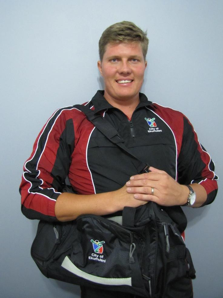Ewald Lamprecht plays for Ekurhuleni wheelchair Tennis South Africa