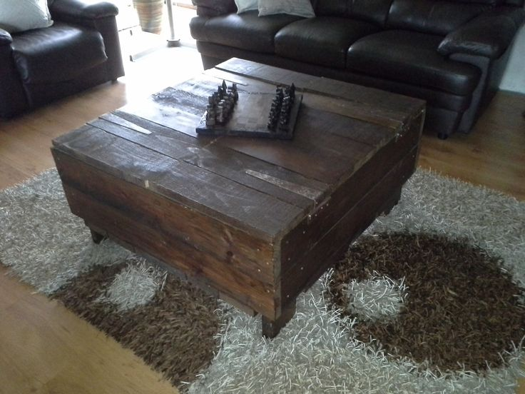 Rustic coffee table with lots of packing space