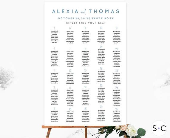 21 best Wedding Seating Chart images on Pinterest Templates - printable seating charts