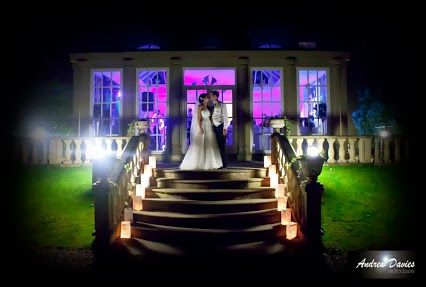 Night time wedding photo from woodhill hall northumberland by www.andrew-davies.com