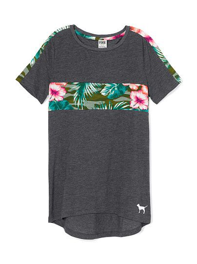 High-Low Tee - PINK - Victoria's Secret | #STREETSTYLE | Pinterest ...