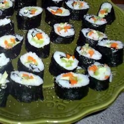 Sushis végétariens au nori @ qc.allrecipes.ca