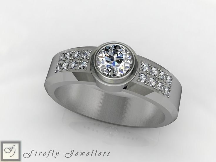 White gold and diamond engagement ring (Source: www.fireflyjewel.co.za)