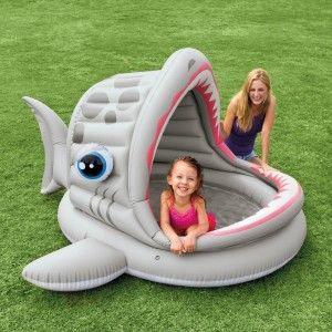 Intex Roarin' Shark Shade Inflatable Pool