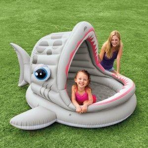 Intex Roarin' Shark Shade Inflatable Pool