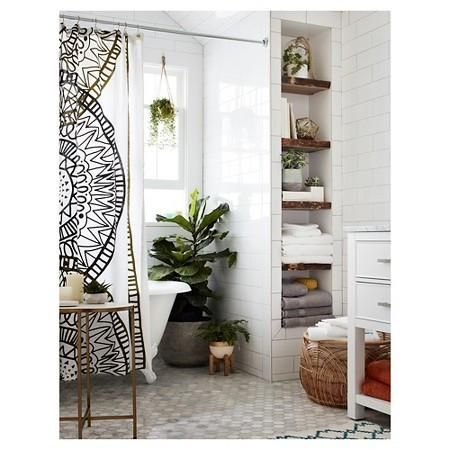 Boho Abstract Pattern Shower Curtain