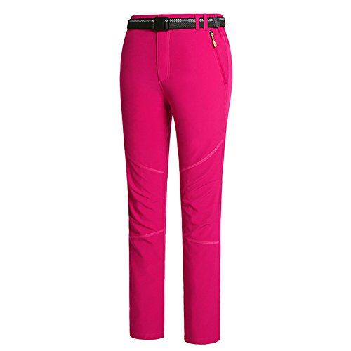Chickle Womens Winter Outdoor Outdoor Waterproof convertible Hiking Pants Rose Red *** You can get additional details at the image link.