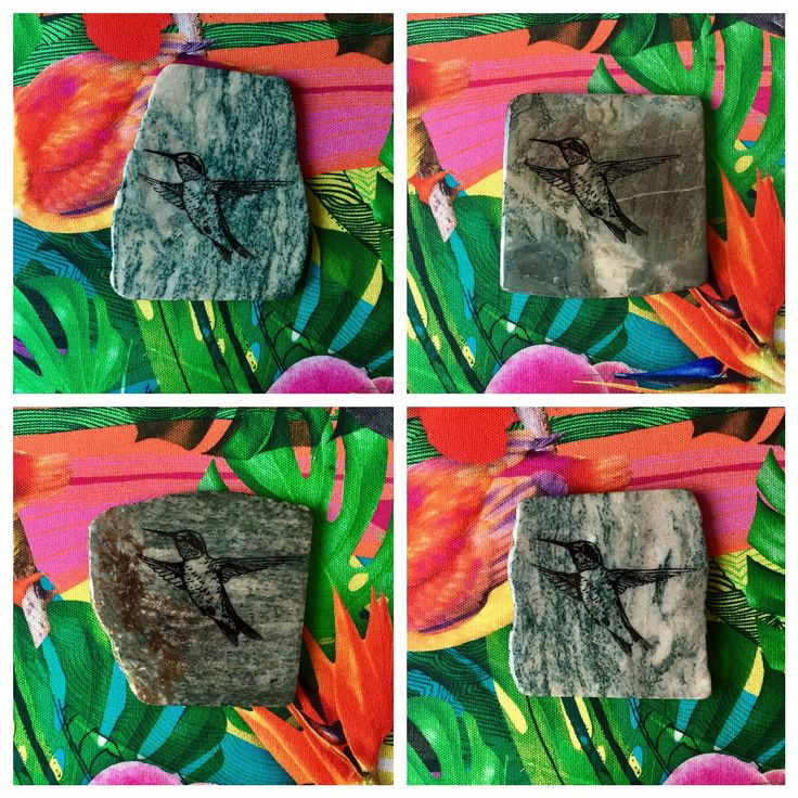 Little Birdies - Hummingbird Coasters made from natural stone