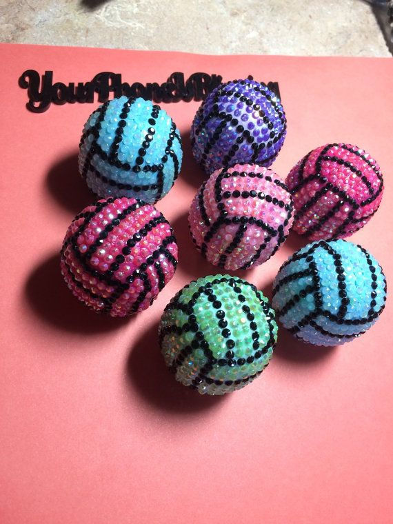 These are great EOS lip balms for  volleyball,   softball ,  tennis,   basketball   Bridal Party Sport team LOGO TOO  Baby Shower   senior night stocking stuffers  or just because ..  i make them to order. any color and any ball.  I CAN MAKE THEM JUST SUPER BLINGY LIKE THE PICTURE. ANY COLOR