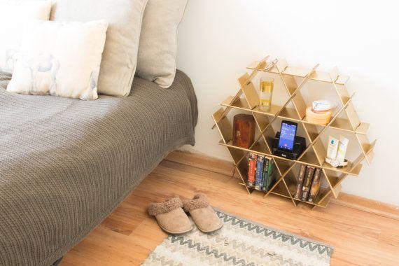 Nachtkastje Nachtkastje slaapkamer opslag Bed door RucheShelving