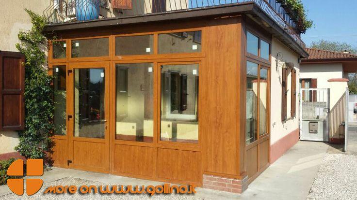 Una bella realizzazione in PVC.  Come ripensare gli spazi esterni. #outdoor #veranda #pvc www.gollino.it
